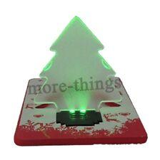 Luz de la tarjeta LED Bombilla plegable para el árbol de navidad verde COLOR