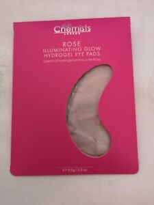 Skin Chemist Rose Illuminating Glow Hydrogel Eye Pads 8.5g 1 Pair Brand New!