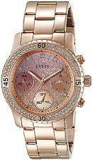 Guess Mujer Reloj Pulsera Bracelet Gold Steel Oro Woman Watch Crystal Band Hand