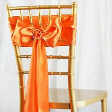 50/PK ~NEW~ Satin Chair Sash Bow Wedding Party Banquet 20+ Colors!