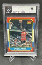 1986 Fleer Basketball Michael Jordan ROOKIE RC #57 BGS 9 MINT