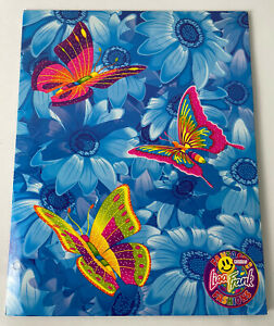 Vintage Lisa Frank Butterflies Flowers Fantastic Fashions Groovy 2-Pocket Folder