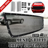 Rivet Mesh Grille For Chevy SILVERADO 2005-2006 Insert Set Upper 1500 2500 3500