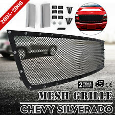 Rivet Mesh Grille For Chevy SILVERADO 2005-2006 Insert Set Upper 1500 2500 3500