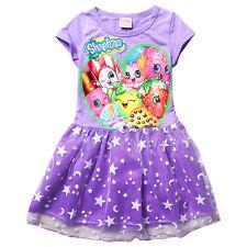 Purple Size 7/8 Girls Shopkins Tutu Fancy Summer Short Sleeve Dress
