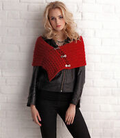 KNITTING PATTERN LADIES LACE WRAP EASY QUICK CHUNKY SKM M12A