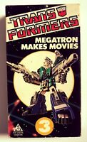 The Transformers megatron makes movies vhs