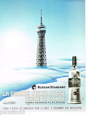 PUBLICITE ADVERTISING 065  2007  RUSSIAN STANDARD   la vodka  Russe