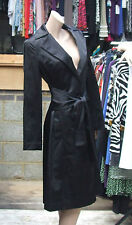 House of Cashmere-Most Stunning Black Satin Dress-Coat Jacket in The Universe! M
