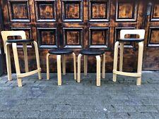 Artek Barhocker K65 & Artek Hocker E60 Set Finish Alvar Aalto