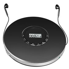 Black Personal Cd Player Best sound for Cd Mp3 Wma With Earphones Rechargeable