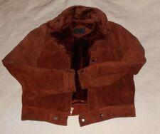 Vintage Fantastic International Leather Suede Jacket, Rust, Warm Lining, sz  40
