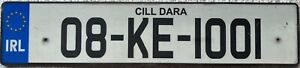 Southern Ireland County Kildare Eire Number Licence  License Plate 08-KE-1001