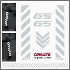 5x GS White Reflective Stripes ADESIVI PEGATINA R 1200 1150 F 800 650 700 GS A