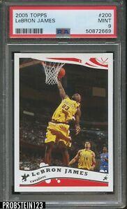 2005-06 Topps #200 LeBron James Cleveland Cavaliers PSA 9 MINT