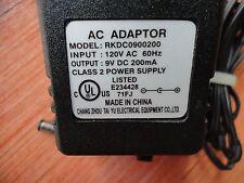 Chang zhou tai RKDC0900200 AC Power Supply Charger Adapter 9VDC-200mA