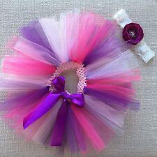 Girls Tutu Skirt & Headband, Size 1, Pink and Purple Tutu Skirt