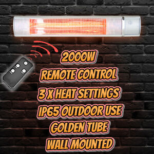 2000W Wall Mounted infrared Heater with Remote Control Outdoor Garden Patio