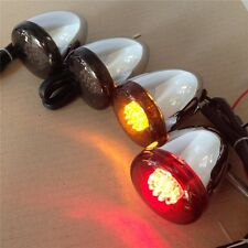 Chrome Motorcycle Turn Signals Kit For Harley Bullet Led 41Mm