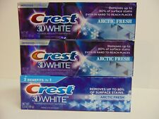 Crest 3D White Toothpastes ~ 3 x 3 oz ea ~ ARCTIC FRESH ~ 3 in 1 Whitening ~ NEW