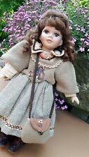 Braut Porzellan Puppe Künstlerpuppe Porzellanpuppe 70 er Jahre 70 cm 66561 Anja