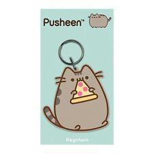 Genuine Pusheen Pizza Rubber Keyring Key Fob Gift Cute Kitten Cartoon Cat