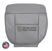 2005, 2006 Ford F150 Lariat Crew Cab 2WD Driver Bottom Leather Seat Cover Gray