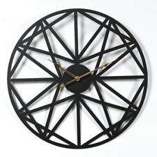 Wall Clock Creative Retro Circular Five-Pointed Star Iron Hanging Watch Roman