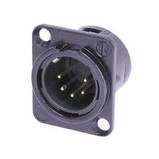 Neutrik NC5MD-L-B-1 XLR 5 Pin Male DMX Lighting Black w/Gold Contacts 1133