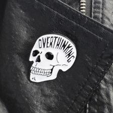 OVERTHINKING Creative Vintage Skull Enamel Brooch Lapel Denim Jacket Pin Badge