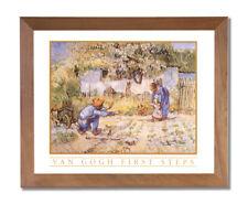 Vincent Van Gogh First Steps Flower Wall Picture Honey Framed Art Print