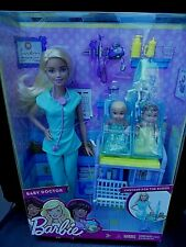 BABY DOCTOR BARBIE WITH TWIN BABIES MINT NRFB ADORABLE GIFTSET