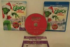 How the Grinch stole Christmas (Blu-ray+Digital) Mint Disc.Free Ship