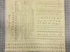 Moda Blackbird Design Hyde Park Fabric Panel Alphabet Sampler 2761-16 Brown/Fawn