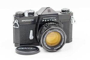 Honeywell Pentax Spotmatic Black Body w/ 50mm f/1.4 Super Takumar Prime Lens