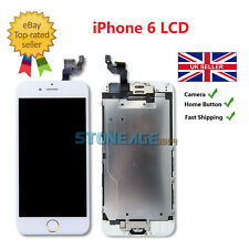 White Screen for iPhone 6 6g Replacement Digitizer Touch LCD Gold Home Button