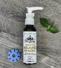 McAniis Mint Scented Premium Beard & Skin Wash, Made With Argon Oil Gentle Clean