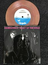 """Generation X - Valley Of The Dolls 7"""" Brown Marbled Vinyl Pic Sleeve CHS 2310 Ex"""