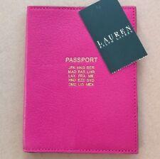 LAUREN by Ralph Lauren NEW Aruba Pink Passport Case GENUINE LEATHER
