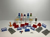 Vintage Tomy Train Bundle - 5 Figures + 21 Accessories or Parts Tracks - 🚂