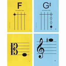 """Viola 3rd Position 4.25""""x5.5"""" Music Flashcards by N&S - Fast Shipping!"""