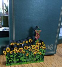Shelia's Houses My Favorite Place. Sunflower Field, Original Box,numbered signed