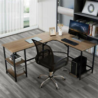 L-Shaped Computer Desk PC Laptop Table Workstation Study Home Office
