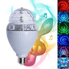 LAMPADINA BLUETOOTH MUSICA PARTY LED RGB E27 ROTANTE RUOTANTE MULTICOLOR SC0