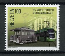 Switzerland Trains Stamps 2020 MNH Basel Electric Tram 125 Years Rail 1v Set