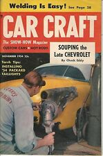 1954 CAR CRAFT Nov hot rod How to Weld Valley Custom CHEVROLET ISSUE 1949 1954