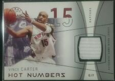 2003-04 Fleer Flair Final Edition Hot Numbers VINCE CARTER Jersey Patch /175