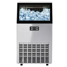 100lbs24h Commercial Ice Cube Maker Machines Freezers Frozen Drink Bar Cafes Us