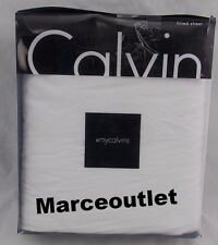 Calvin Klein Home Modern Cotton Body Jersey TWIN Fitted Sheet White