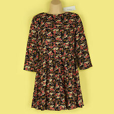 NEW NAVY & BEAUTIFUL FLORAL PRINTED 3/4 SLEEVE SMOCK DRESS SIZE SMALL, LOOK